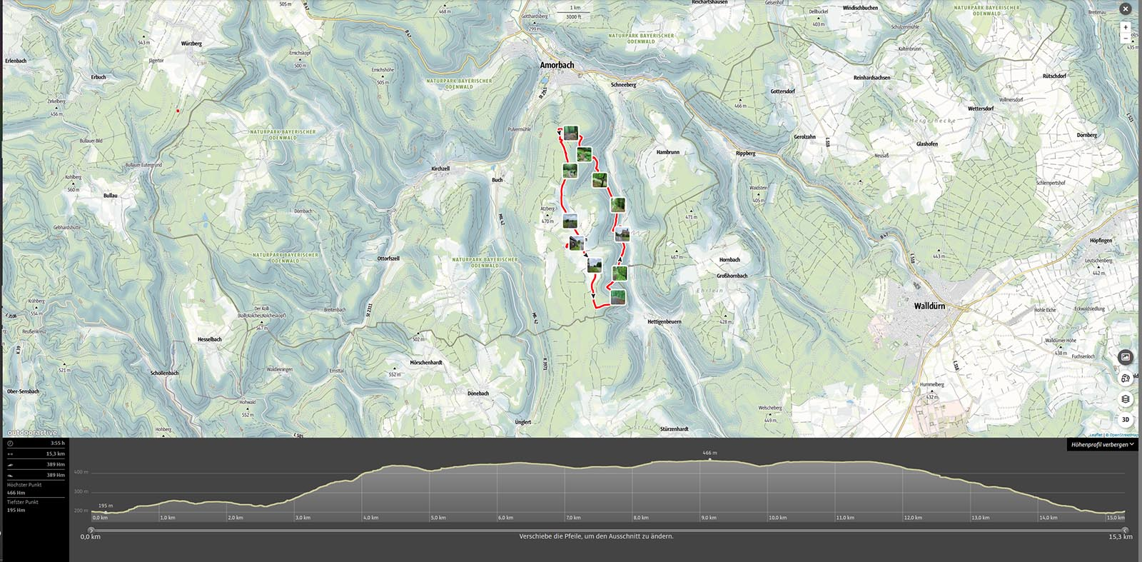 Wanderroute Beuchen-1600